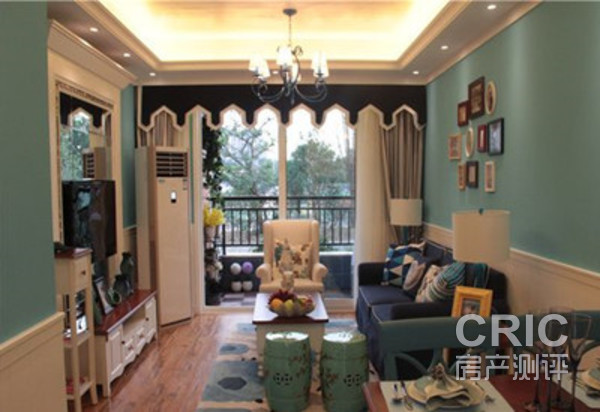 五彩客厅实拍图