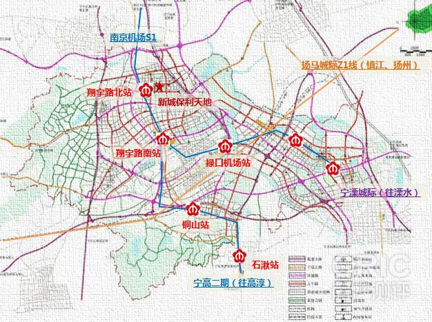 南京禄口空港新城交通规划图-新城保利合筑打造品质刚需