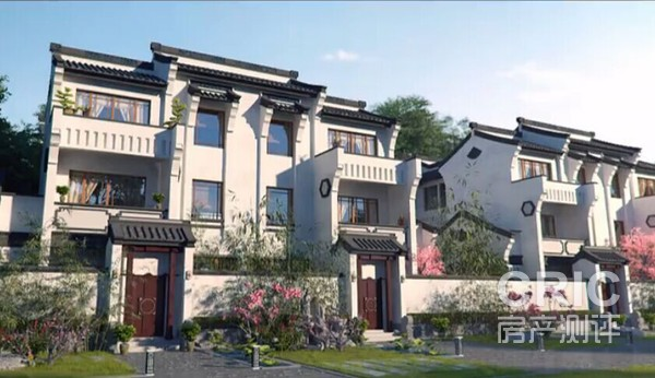 在别墅建筑和景观设计上采用中式传统江南徽派风格和图片