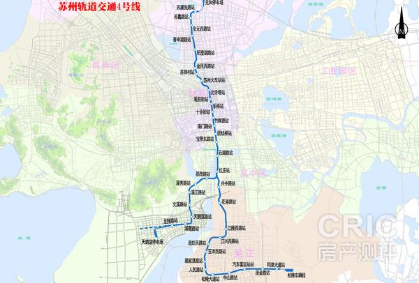 苏州轨道交通4号线线路图