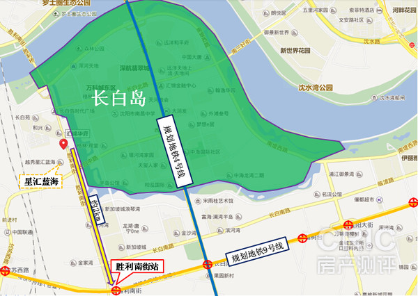 沈阳长白新区地图展示